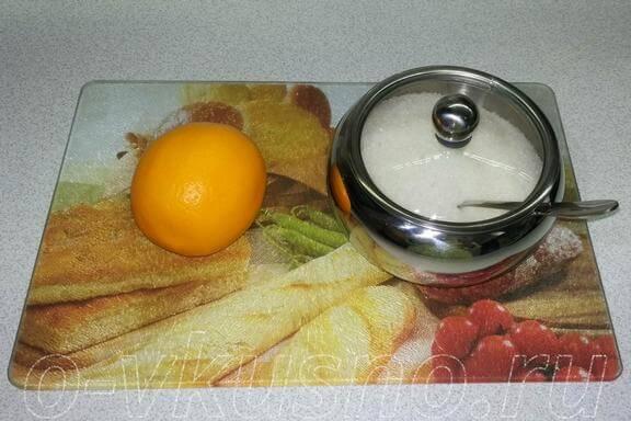 Ингредиенты для лимона с сахаром