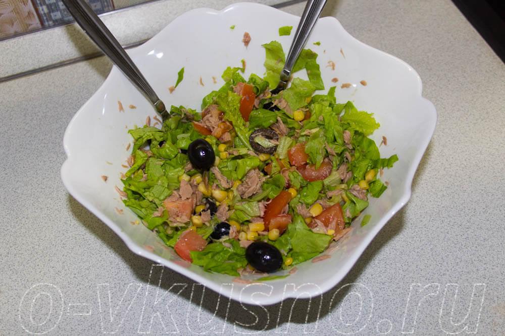 Салаты с листьями салата с фото
