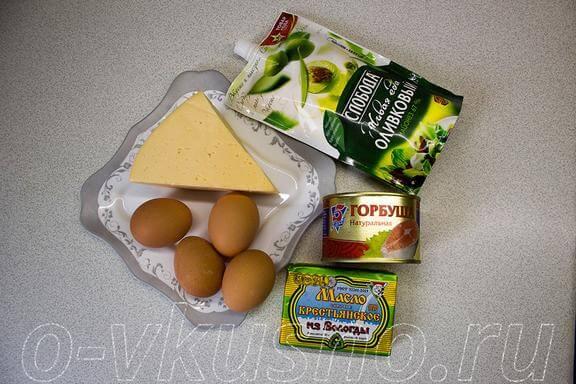 Ингредиенты для мимозы
