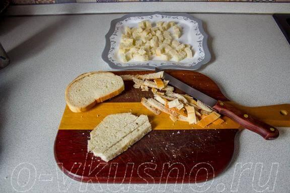 Режем белый хлеб