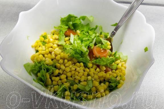 Смешиваем с кукурузой