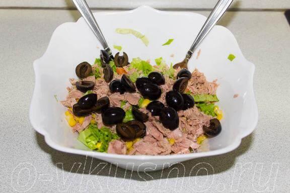 Добавляем маслины