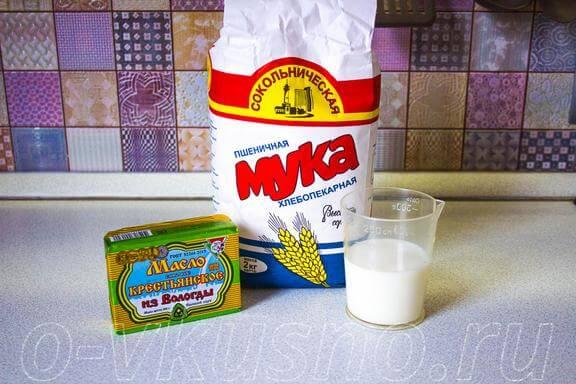 Ингредиенты для коржей
