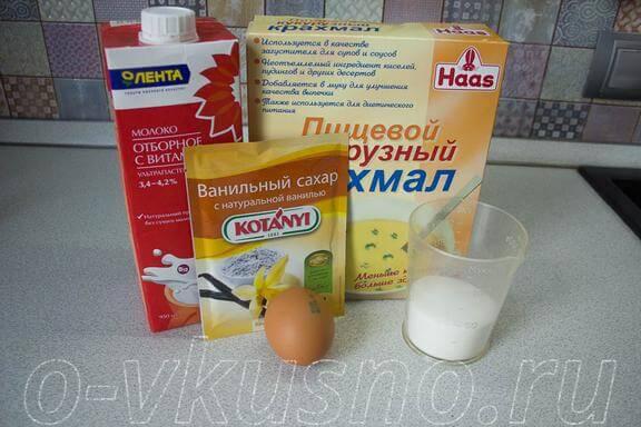 Ингредиенты заварного крема