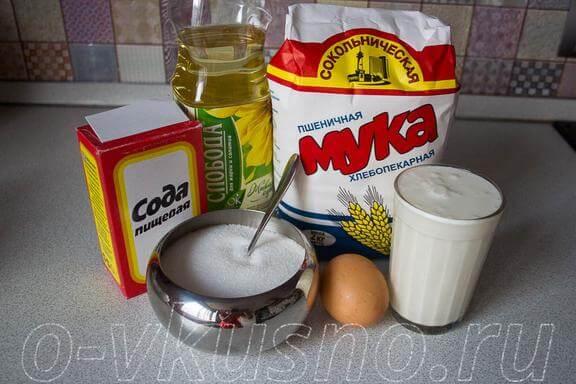 Ингредиенты для оладушек