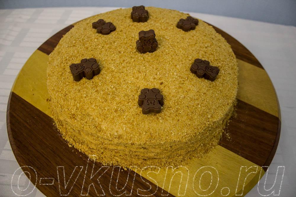 торт рыжик рецепт в домашних с вареной сгущенкой